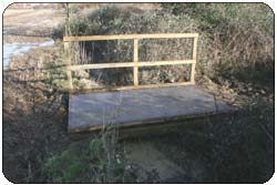 Construction of a Galvanised field gate and a field bridge with handrail after picture