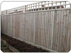 High grab handle style and 7 foot closeboard fence with trellis top after picture